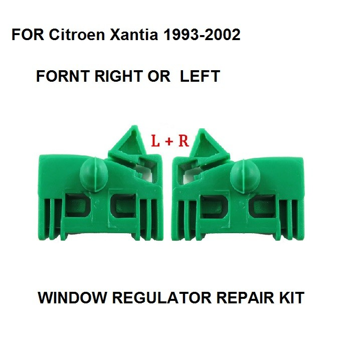 For Citroen Xantia 1993-2002 Window Regulator Repair Clip Kit Front Left Or Right Door 2 Pieces