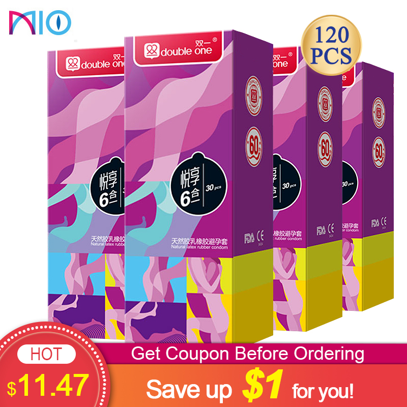 Mio 100 Pcs Condoms For Men Dotted Thread Lubricated Spiral Funny Spike Condoms Natural Latex Contraception Sex Products Shop