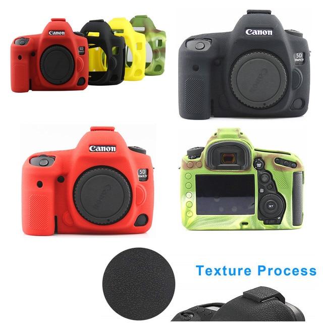 سيليكون درع حالة الجلد الجسم غطاء حامي مضاد للانزلاق الملمس تصميم لكانون EOS 5D مارك الرابع 4 5D4 DSLR كاميرا فقط