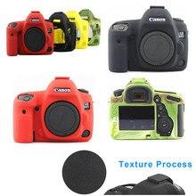 Funda protectora de silicona para cámaras Canon, funda protectora de cuerpo con diseño de textura antideslizante para cámaras Canon EOS 5D Mark IV 4 5D4 DSLR