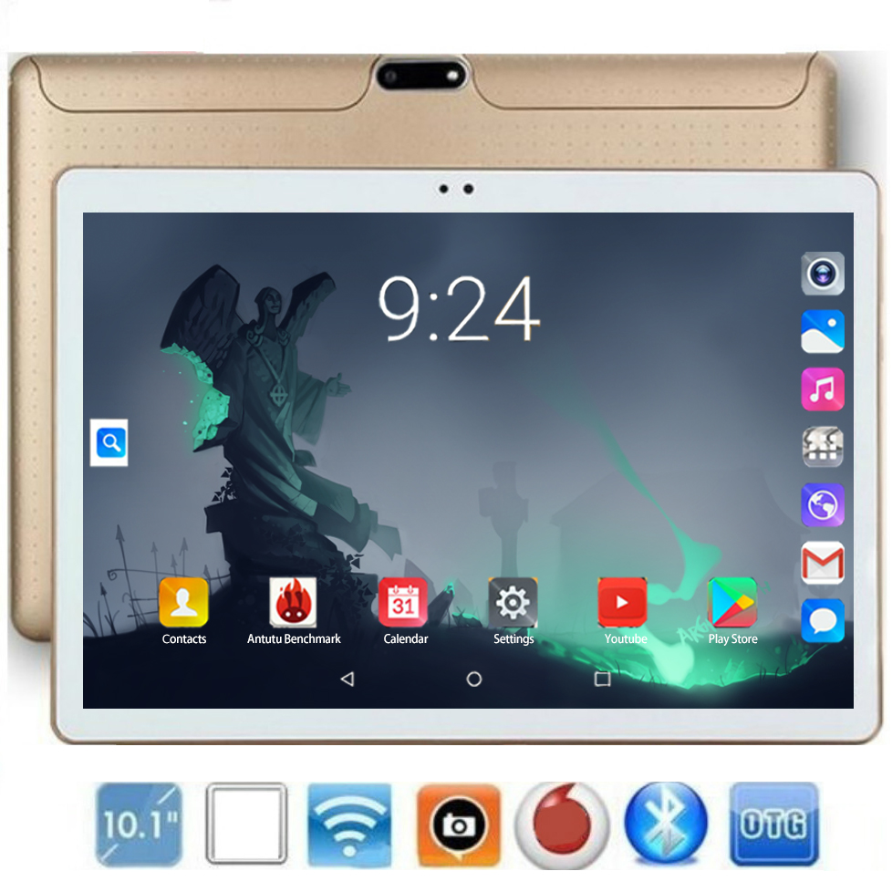 2020 New Design Super Dual 4G LTE 10.1 Inch Tablet PC 8 Core 8GB RAM 128GB ROM IPS Android 8.0 OS A-GPS Tablet 10 10.1