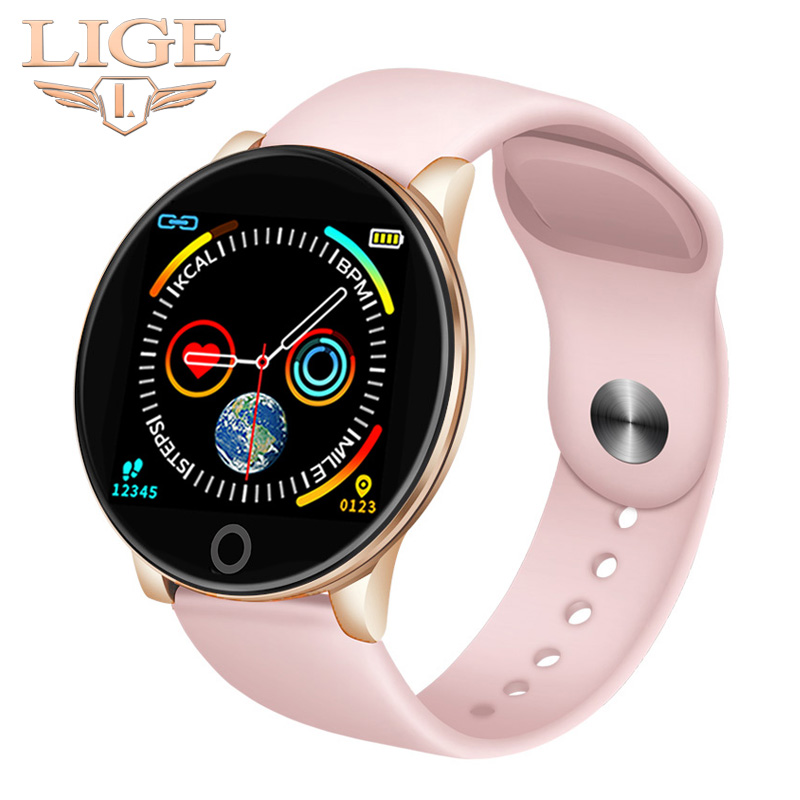 2019 New Women Smart Watches IP67 Waterproof Sports For Iphone Phone Smartwatch Heart Rate Monitor Blood Pressure Functions+Box