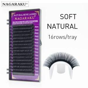 Image 2 - NAGARAKU 10 cases high quality soft mink lashes Faux individual eyelashes natural lashes fake eyelash extension 7mm 16mm cilios