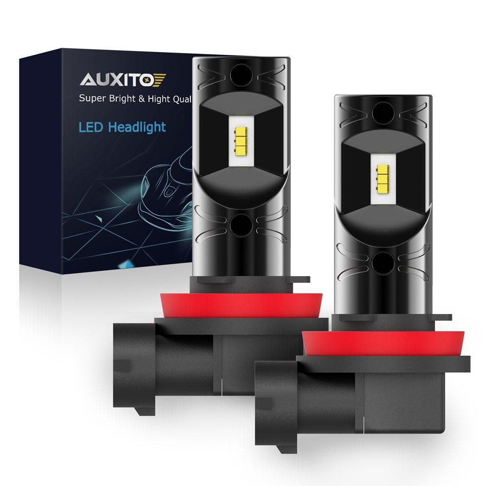 AUXITO 1200LM 9005 H8 H11 светодиодные лампы для противотуманных фар 12V H10 H16 EU 5202 H27 880 881 HB3 Светодиодные лампы 6000K Ксеноновые белые автомобильные DRL Противотуманные фары