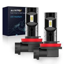 Светодиодные лампы AUXITO, 9005 лм, 5202, H8, H11, 55 в, H10, H16, EU 880, H27, 881, 6000, HB3, K, Ксеноновые белые Автомобильные противотуманные фары