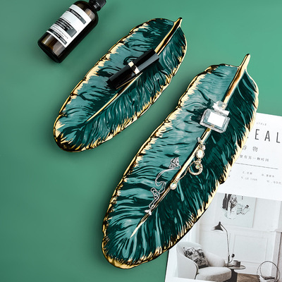 Resin Feather Plate