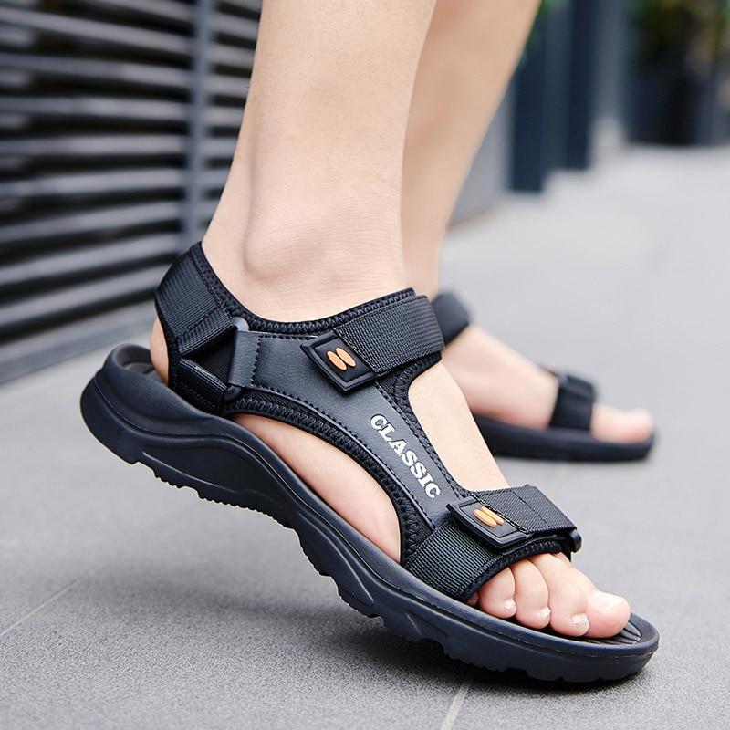 Summer Light-weight Men's Sandals Black EVA Slip On Soft Casual Sandal Shoes For Man Sandle Sandalias Hombre Big Size 47 48