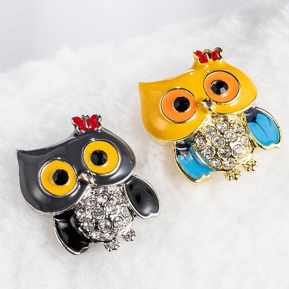 1 PC Bros Kreatif Fashion Menggemaskan Chic Cute Opal Burung Hantu Cabang Bros Burung Hantu Burung Breastpin Hewan Bros untuk Teman Istri keluarga