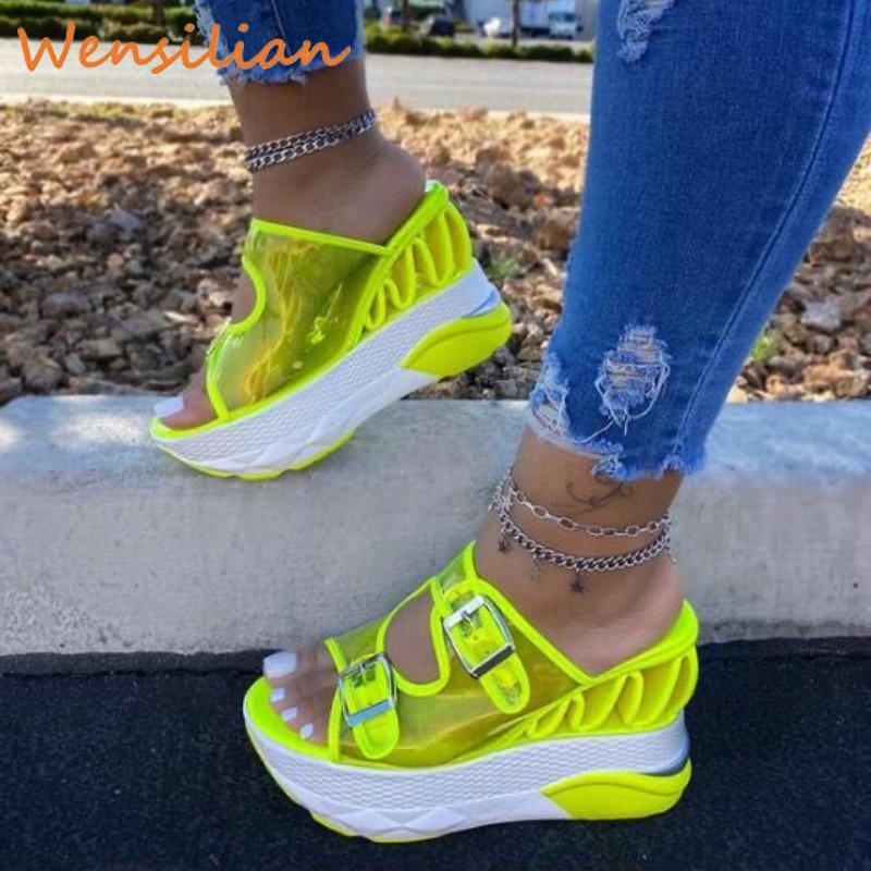 Summer Sandals Women 2020 Womens Platform Sandals Wedges Shoes Clear Sandles Women Slippers Sandels For Women Female Sandalias