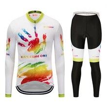 цена на Spring 2019 Mens Pro Team Long Sleeve Cycling Jersey Bike bib Pants Set Mens Ropa Ciclismo Quick Dry bicycle Maillot Culotte