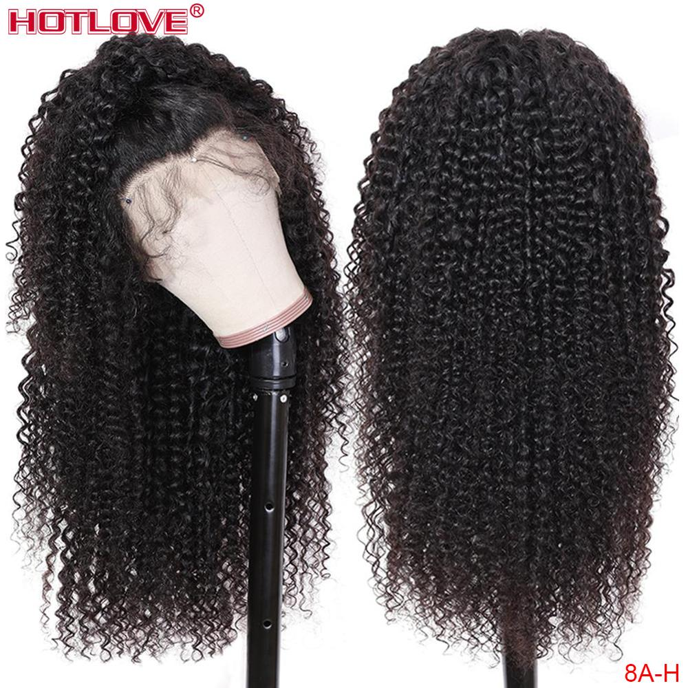 Afro Kinky Curly Lace Front Human Hair Wigs For Women 13x4 Lace Front Hair Wigs With Baby Hair Pre Plucked Remy Hair 150%