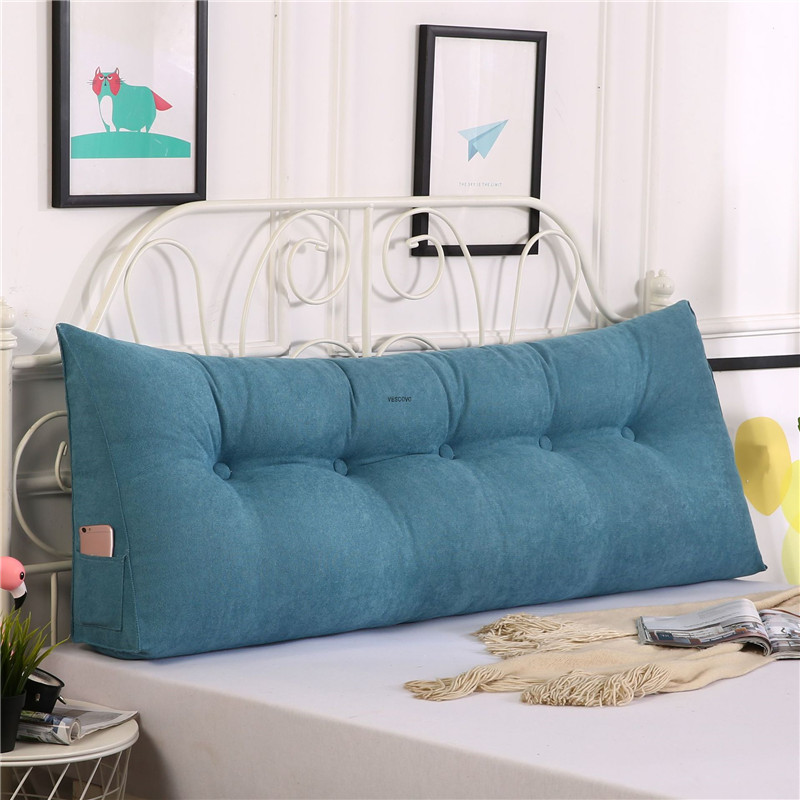bed twin big long reading pillow cushion backrest cushion large waist pillow for bed title=