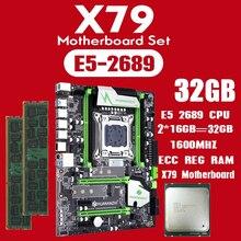 Huananzhi X79 di serie della scheda madre con Xeon E5 2689 2x16GB = 32GB 1600MHz DDR3 ECC REG di memoria USB3.0 SATA3 PCI E NVME M.2 SSD