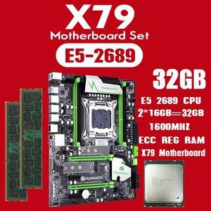 Image 1 - Комплект материнской платы huananzhi X79 с Xeon E5 2689 2x16GB = 32GB 1600MHz DDR3 память ECC Reg USB3.0 SATA3 PCI E NVME M.2 SSD