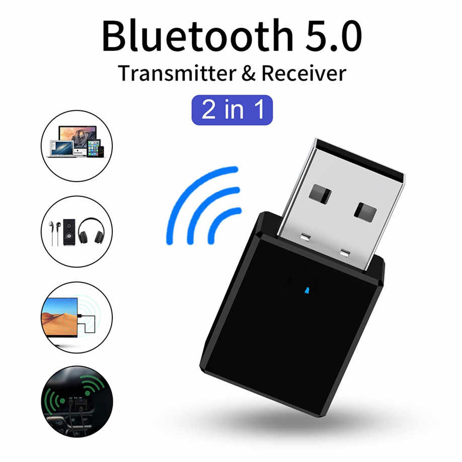 Bluetooth 5,0 приемник передатчик 2 в 1 RX TX USB автомобильный комплект стерео музыка 3,5 мм AUX аудио беспроводной громкой связи адаптер наушники