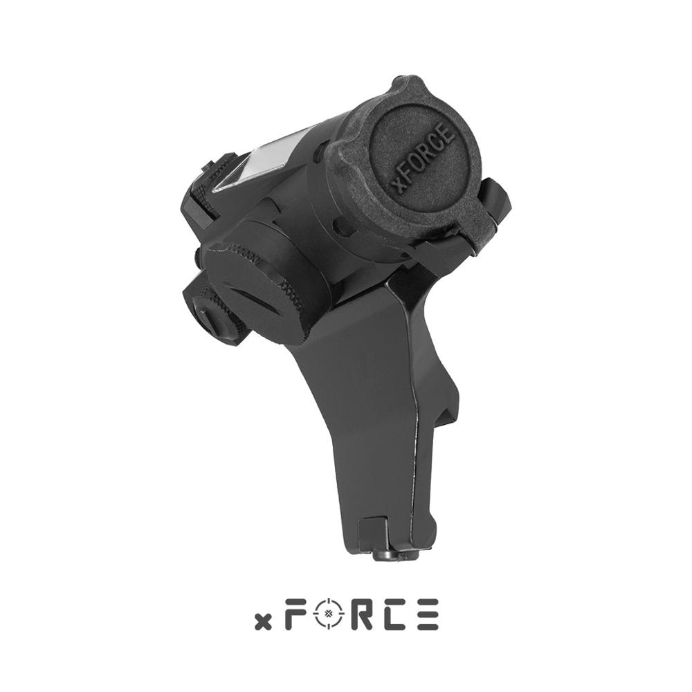 XFORCE XTSP Solar Red Dot Sight With 45-Degree Offset Mount & Killflash / Kill Flash Buy One Get One FREE Offset Rail Mount