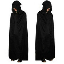 Halloween Costume Adult Death Cosplay Costumes Knight Hooded Cloak Scary Witch Devil Role Play Long Black
