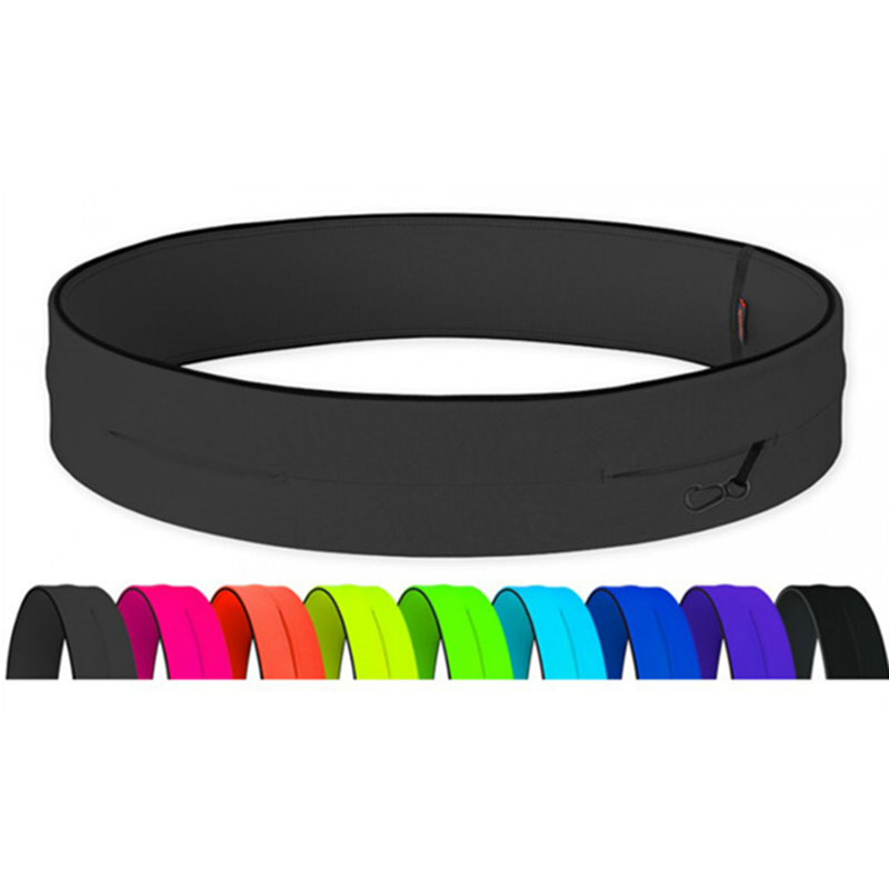 Professional Running Waist Bag Elastic Super Thin Men Women Gym Sports Bag Trail Invisible Phone Money Belt Fanny Waist Pack