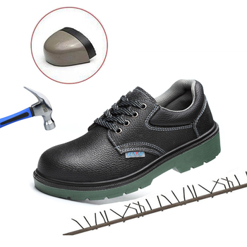 Genuine Leather Steel Toe Work Safety Shoes Construction Steel Toe Shoes Safety Insulated Men Boots Puncture-Proof Work Shoes large size men casual comfort mesh steel toe cap work safety summer shoes puncture proof tooling security boots protect footwear
