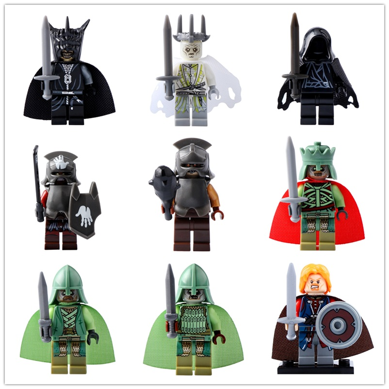 Legoed Lord Of The Rings Witch-King King Of The Dead Mordor Orc Action Minifigured Building Blocks Figures Toys For Children