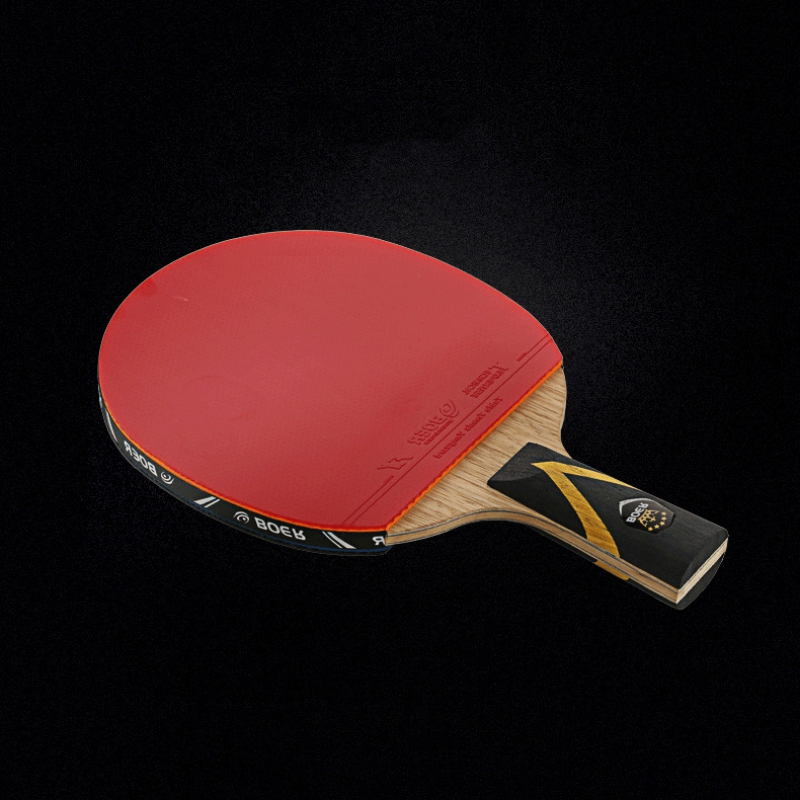 Table Tennis Racket Lightweight Powerful Ping Pong Paddle Bat Ergonomic Long/Short Handle Table Tennis Paddle With Carrying Case