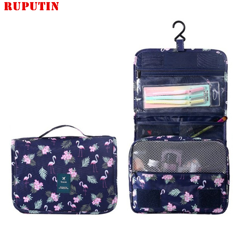 RUPUTIN Fashion Travel Bag Waterproof Portable Cosmetic Cases Man Toiletry Bags Women Cosmetic Organizer Pouch Hanging Wash Bags
