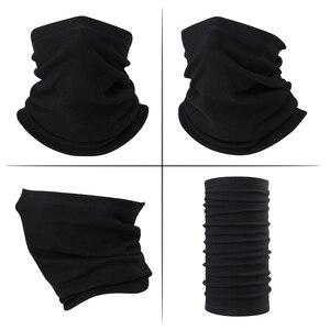 шарф труба шея теплее Зимний цветной платок, тепловой Манишка, флисовая полулицевая маска, Спортивная термальная Лыжная походная Лыжная маска, сноуборд для мужчин и женщин