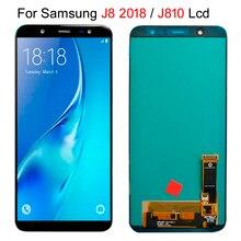 6.0 Super AMOLED LCD affichage pour SAMSUNG J8 2018 LCD pour Samsung J810 J8 2018 LCD écran tactile numériseur assemblée peut ajuster