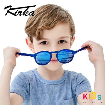 Elastyczne spolaryzowane okulary przeciwsłoneczne dla dzieci dziecko niebieskie okulary przeciwsłoneczne dla 7-12 lat dziewczynek chłopców okulary TR90 UV400 okulary dzieci tanie i dobre opinie Kirka Chłopcy ROUND Z tworzywa sztucznego 41mm Polaroid SK1003 C1 46mm