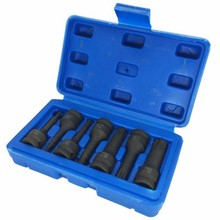 7 Pcs Impact Socket Bits 3/8 Inch Driver Metric Star Torx Hex Spline Ratchet Screwdriver Bit Socket Set Tools(China)