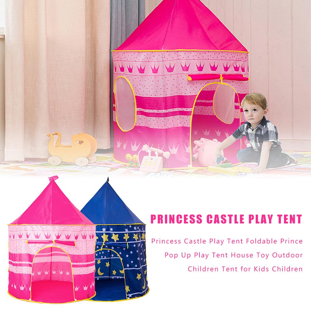 Newest Princess Castle Play Tent Foldable Prince Pop Up Play Tent House Toy Outdoor Children Tent For Kids Children image