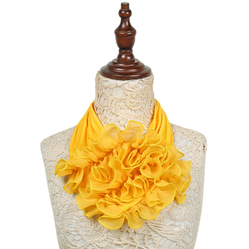 2020 Winter Women Scarf Fashion Floral Collar Scarf Luxury Flower Printed Neckerchief Ring Neck Scarves