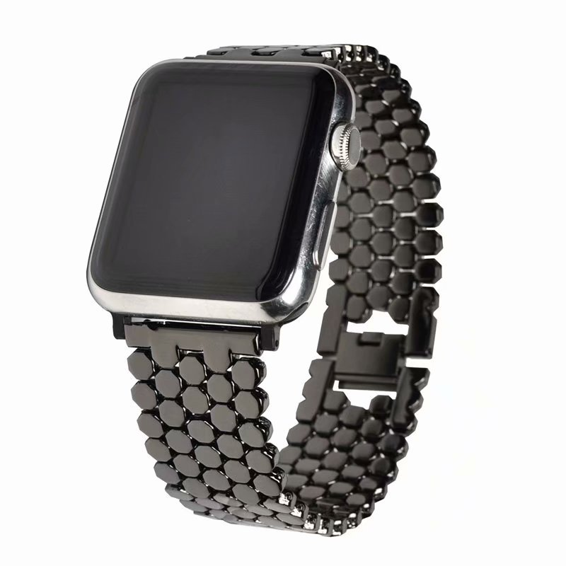 New Products Suitable For Apple Watch 4 Generation Scale Pattern Watch Strap APPLE Watch Honeycomb Zinc Alloy Replacement Wrist