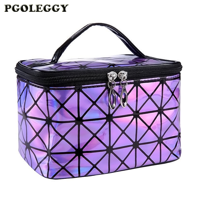 Cosmetic Bag Multifunction Travel Women Laser Big Capacity Toiletries Organizer Bag Waterproof Female Storage Makeup Bag Pouch