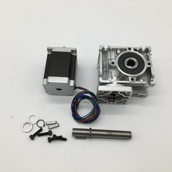 20:1 WormGearbox RV030 Speed Reducer 14mm output With Nema23 Stepper Motor 3A 76MM 1.8NM 260Oz-in kit Convert 90  For CNC Router