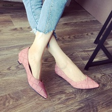 AGUTZM 2020 Spring Pink Shoes Women Larger Sizes 34-43 Low heels Loafers Shoes Pointed Toe Shallow Mouth Slip-on Ladies flat h22 fedonas new arrival gray pink women low heels casual shoes comfortable four season pointed toe loafers shoes woman