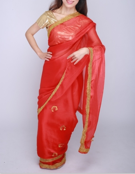 indian pakistani Dress Wedding party dress sally for women clothing red in sari for women in <font><b>india</b></font> image