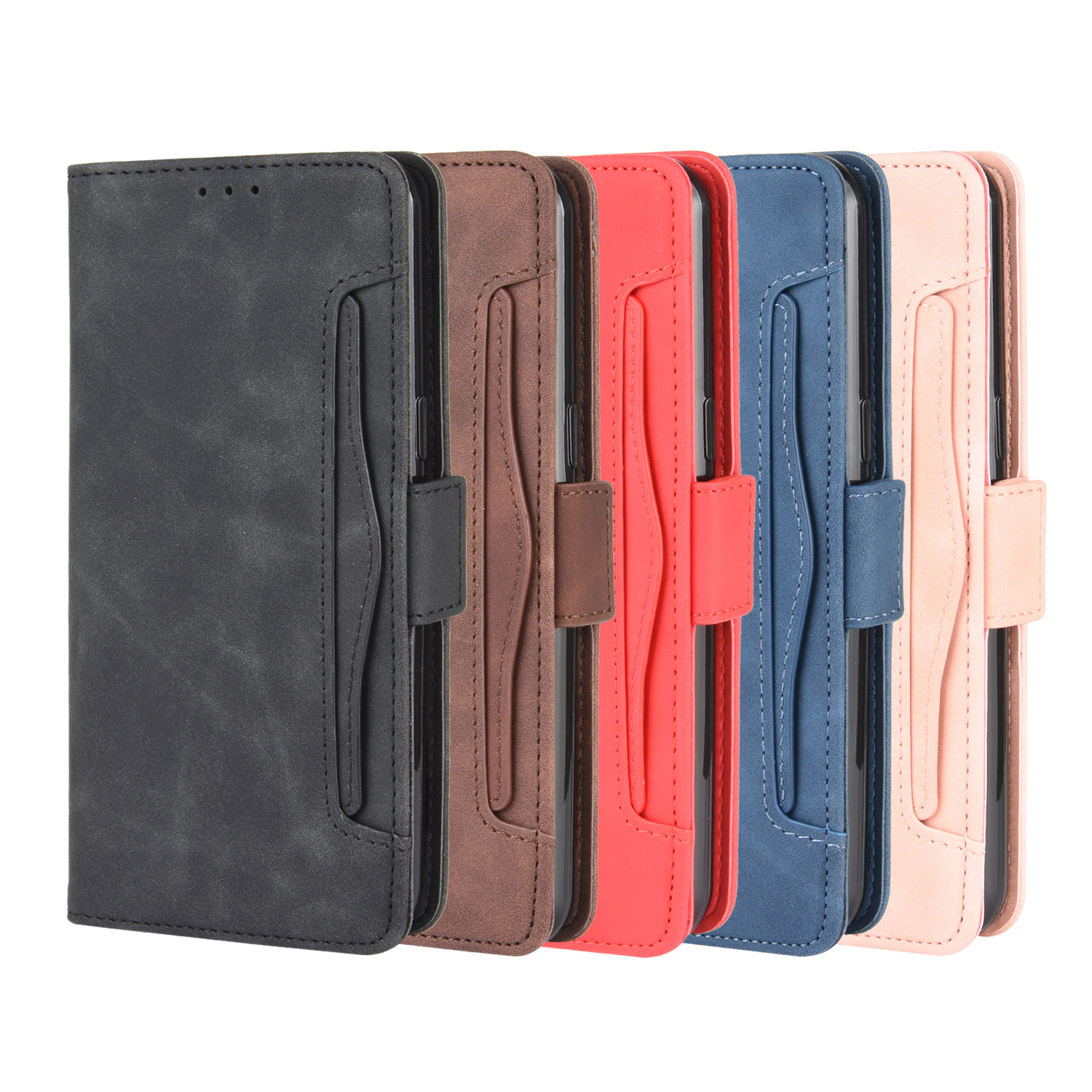 With Card Slots Credit Card Holder Leather Case For LG K51 K61 Q51 Q60 Q70 Stylo 6 K40S K50S Magnetic Flip Wallet Phone Bag