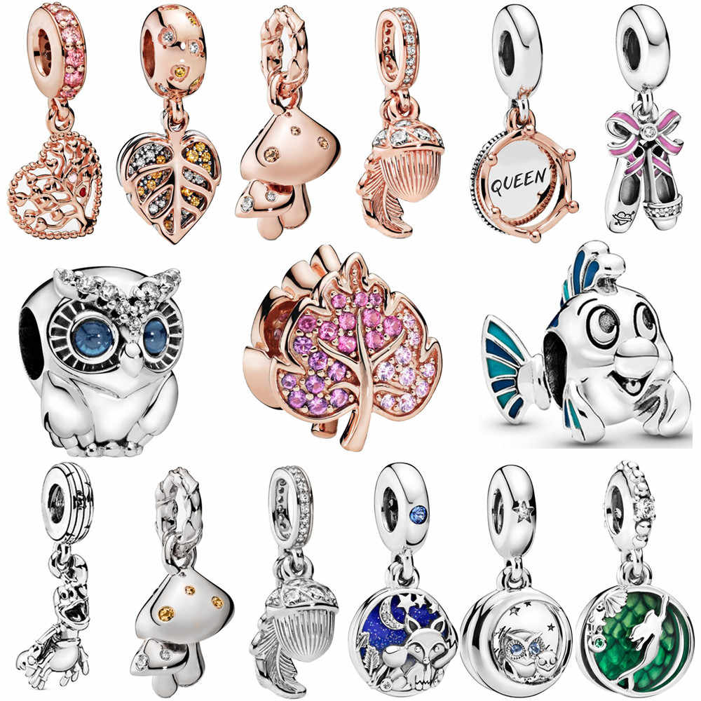 Fit Pandora Bracelet DIY Jewelry For Gift Fox And Rabbit Charm Beads Silver Color Animals Charms Rabbit Charm Fox Beads