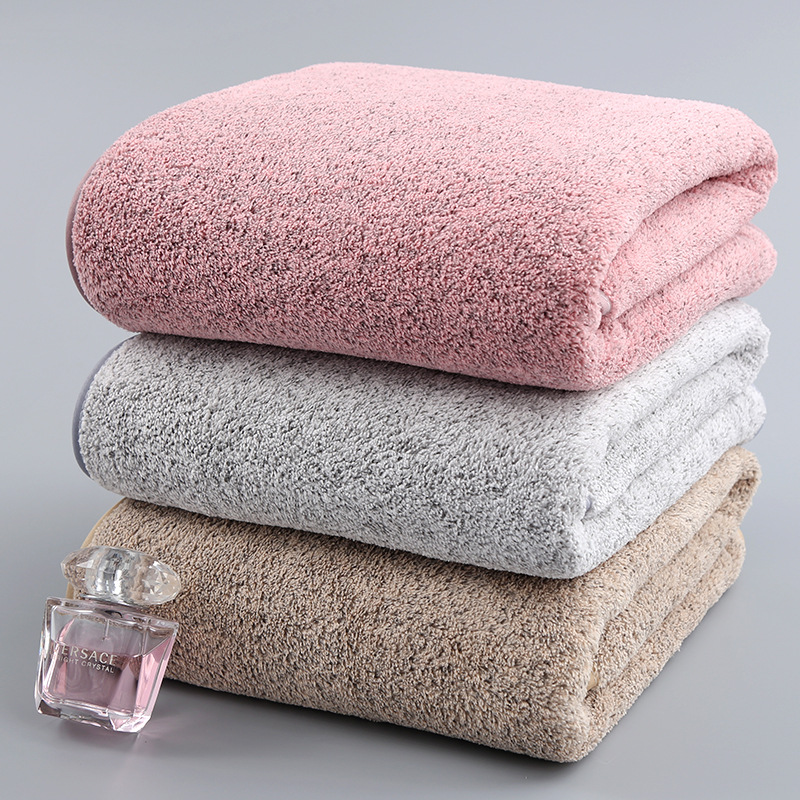 70x140cm Bamboo Charcoal Coral Velvet Bath Towel For Adult Soft Absorbent Microfiber Fabric Towel Household Bathroom Towel Sets