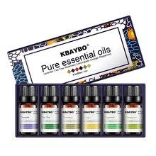 Aceite esencial para difusor, humidificador de aceite de aromaterapia 6 tipos de fragancia de lavanda, árbol del té, Rosemary, Lemongrass, naranja