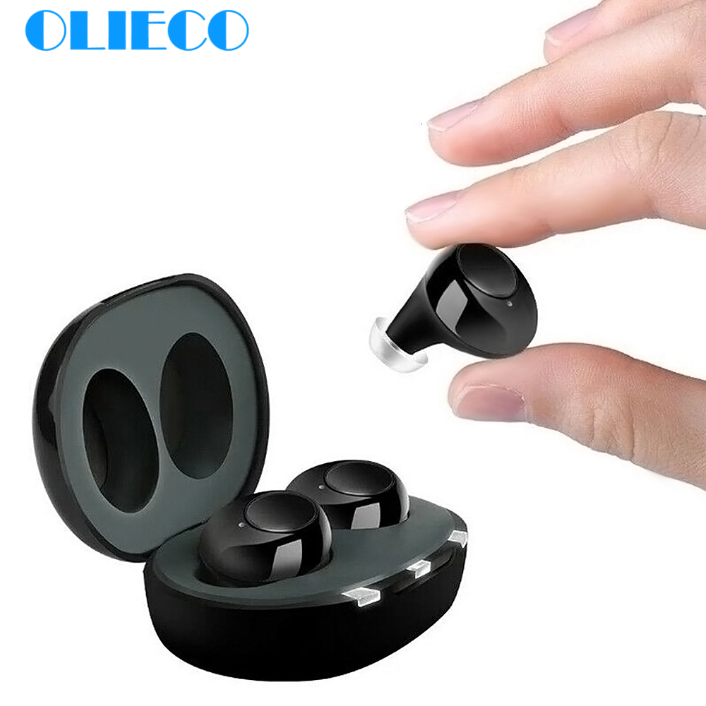 OLIECO Invisable Hearing Aids USB Rechargeable Mini Hearing Sound Amplifier For The Elderly Tone Adjustable Hearing Loss Device