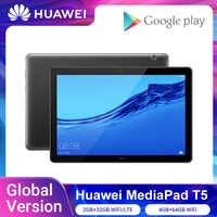 Versión Global HUAWEI MediaPad T5 2GB 32GB/4GB 64GB Tablet PC 10,1