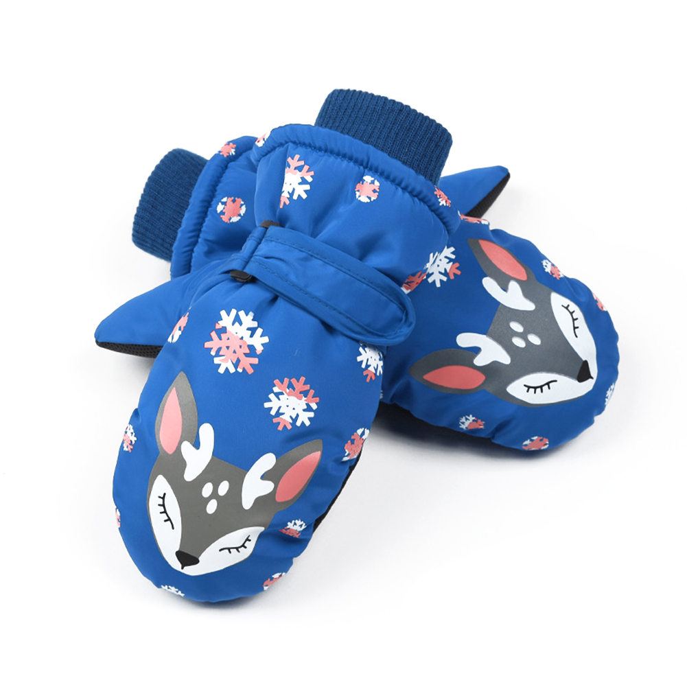 Winter Children Ski Gloves Waterproof Windproof Warm Gloves Non-slip Extended Wrist Mittens