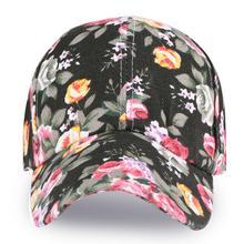 Floral Flower Snapback Hat Men Women Baseball Cap Trucker Hats Hip-Hop Flat Adjustable Cap Sun Hats for Boys Girls 2019 Fashion