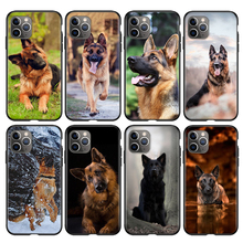 Dog-Silicone-Cover Phone-Case German Shepherd 12 Mini for Apple 11 Pro XS MAX Xr-x-8/7/6s/..