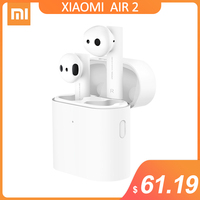 New Xiaomi Air 2 TWS bluetooth Earphone Headset Noise Cancelling LHDC HD 14.2mm Dynamic Dual Mic ENC Auto Pause Tap Control|Bluetooth Earphones & Headphones|   -