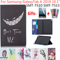 Case For Samsung Galaxy Tab A 10.1 2019 T510 T515 SM T510 SM T515 Cover Funda Tablet Fashion painted Stand Shell +Film+Pen|Tablets & e-Books Case| |  -