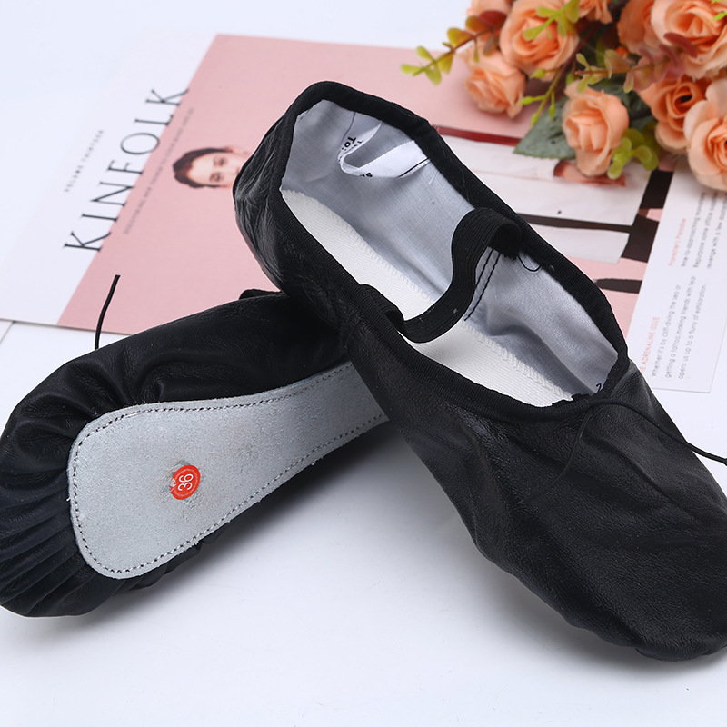 Genuine Leather Outsole Dance Shoes Children Four Seasons Dance Shoes Adult Gymnastic Healthy Massage Dance Shoes