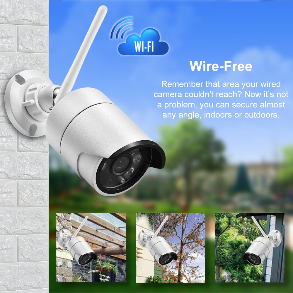 Gadinan 4.0MP IP Wifi Video Kamera Audio Record Integrierte SD Karte Slot Überwachung Kamera Kugel Im Freien Wasserdichte Nachtsicht